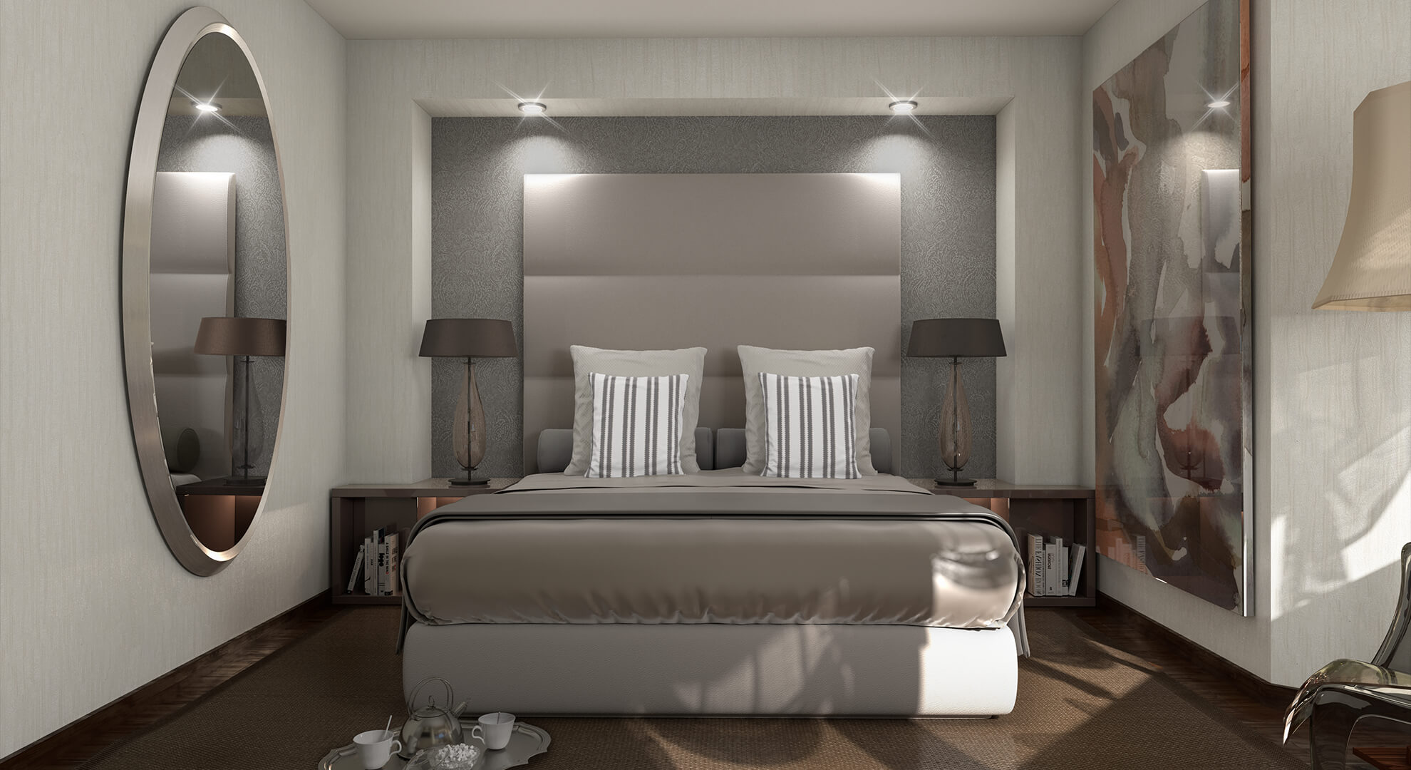 Infografía 3D dormitorio