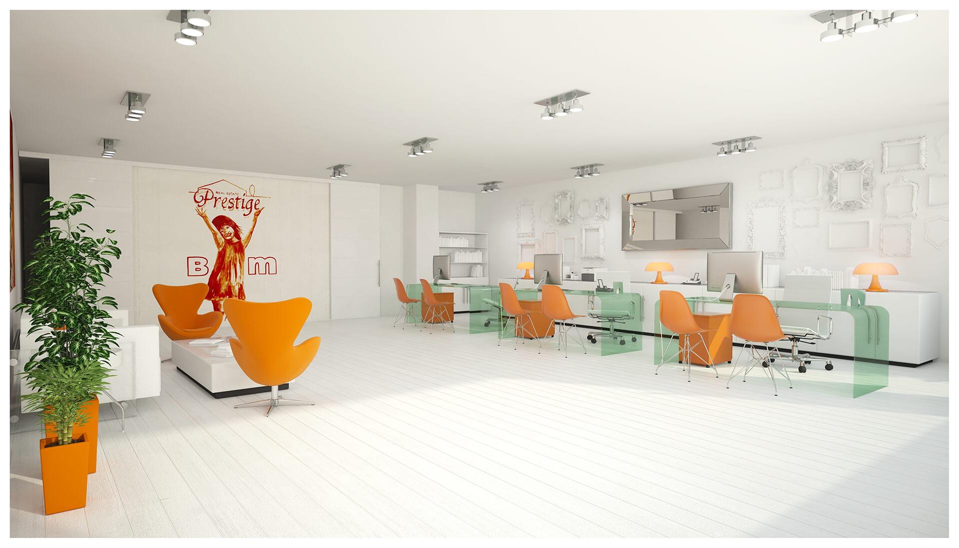 Imágenes 3D Interior Oficinas BM