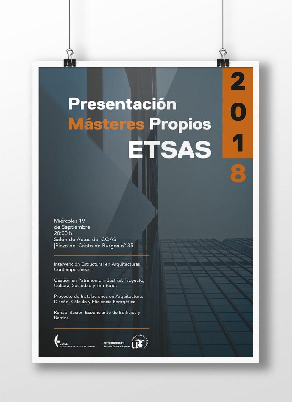 Diseño Cartelería Para COAS. Colegio Oficial Arquitectos Sevilla.