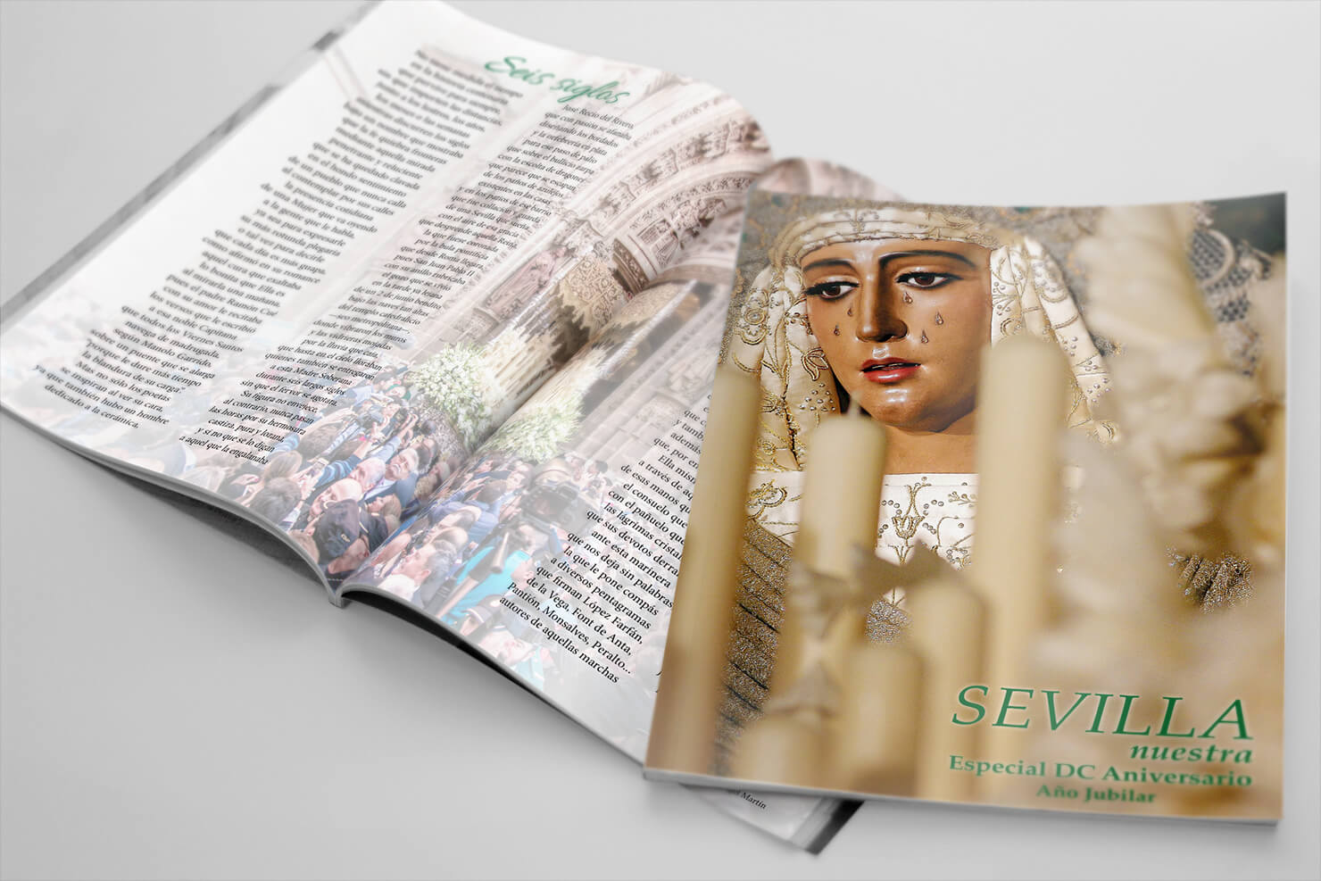 Maquetación Editorial. Revista Sevilla Nuestra. Especial Esperanza De Triana