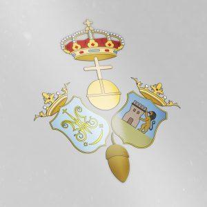 Escudo De Antigua, Real, Imperial, Ilustre Y Fervorosa Hermandad De Ntra. Sra. Santa María De Escardiel De Castilblanco De Los Arroyos